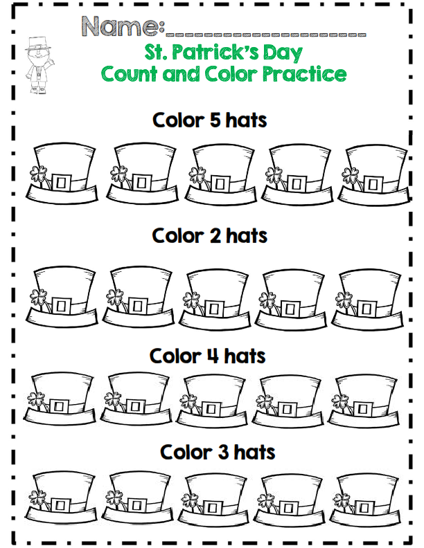 Kindergarten St. Patrick\'s Day Math & ELA Activity Set *No Prep ...