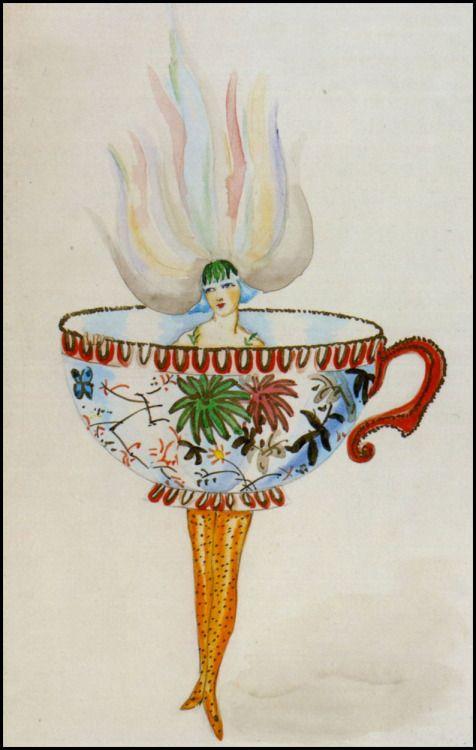 Myra Butterworth, Teacup Costume, ca1920.