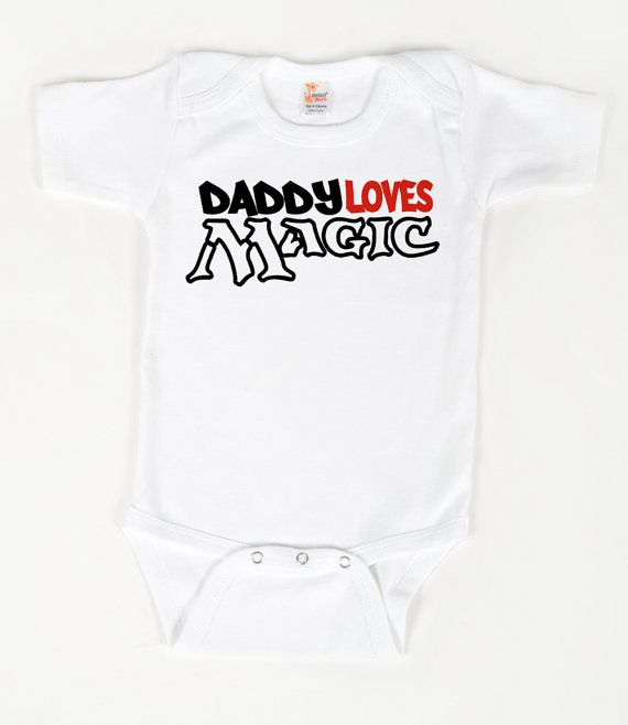 Daddy Loves Magic Bodysuit Magic The Gathering By