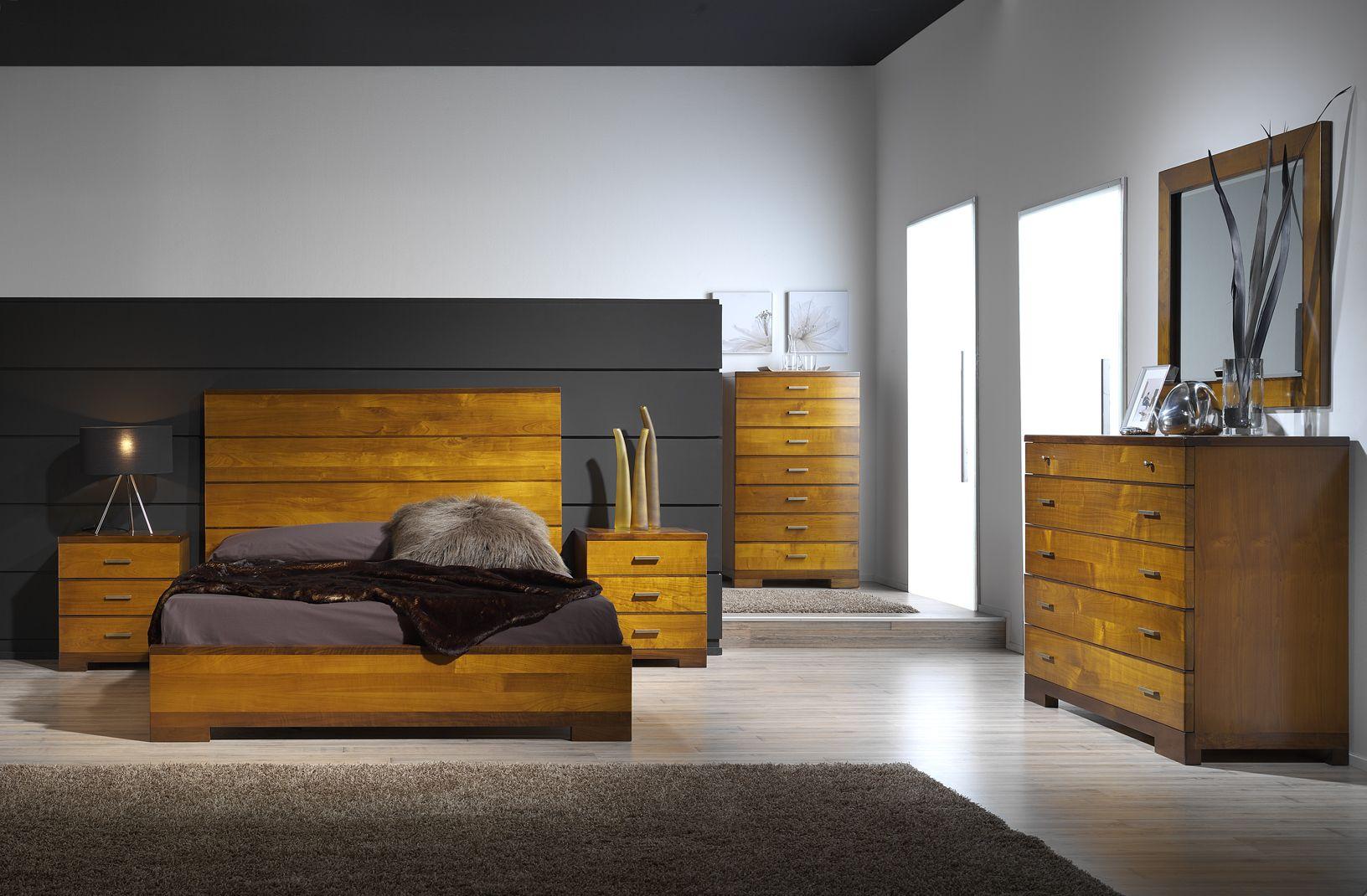 Dormitorio clasico contemporaneo modelo silvia en madera for Muebles de dormitorio contemporaneo