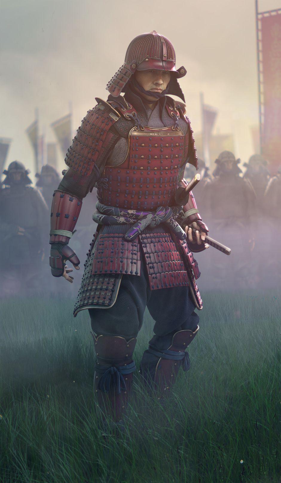cg society samurai 3d model by eugene yevhen lisunov wow 3d