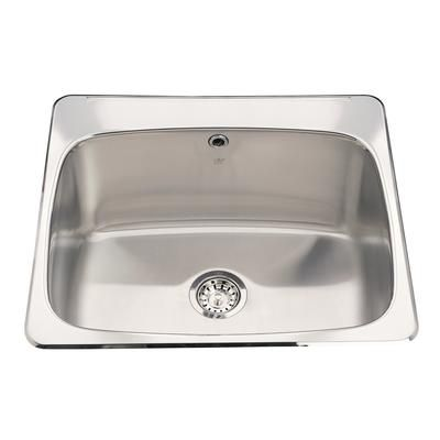 Kindred Stainless Steel Single Laundry Sink Qsl2225 12 3