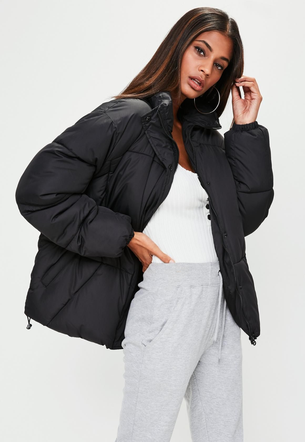 4a0558183 Missguided - Black Ultimate Oversized Padded Jacket | jackets in ...