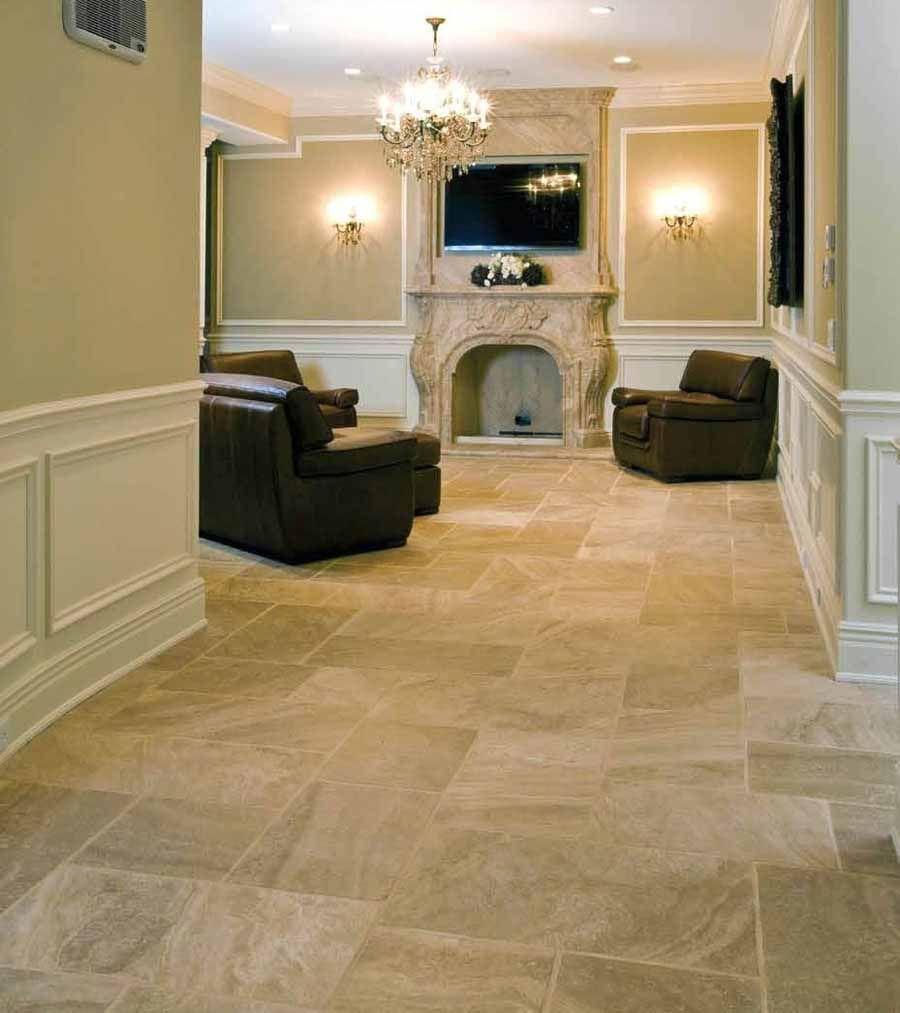 Rubber Bathroom Flooring Options: Travertine Tiles - Materials Marketing