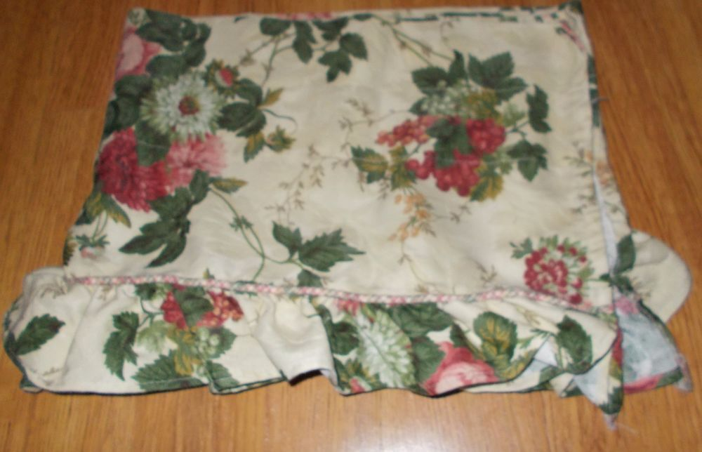 Charming Waverly Garden Room Roseberry Ruffled Floral Valance Floral #Waverly