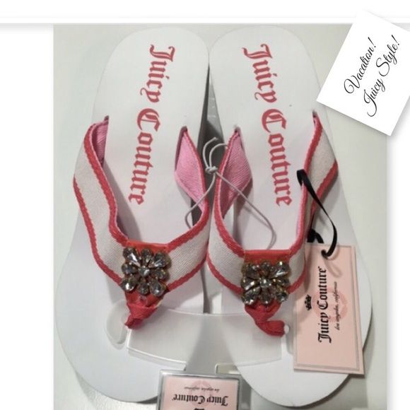 16835a49b9c1b7 Juicy Couture flip flops NWT