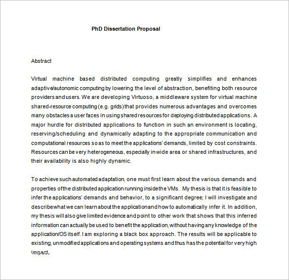 Research Proposal Dissertation Proposal Sample Dissertation Proposal Templates