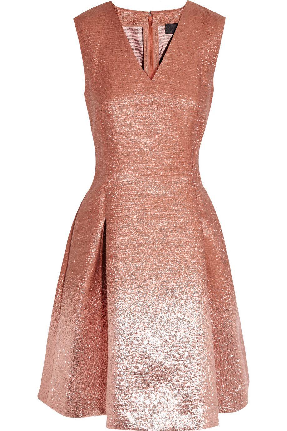 Fendi|Ombre-effect metallic dress|NET-A-PORTER.COM