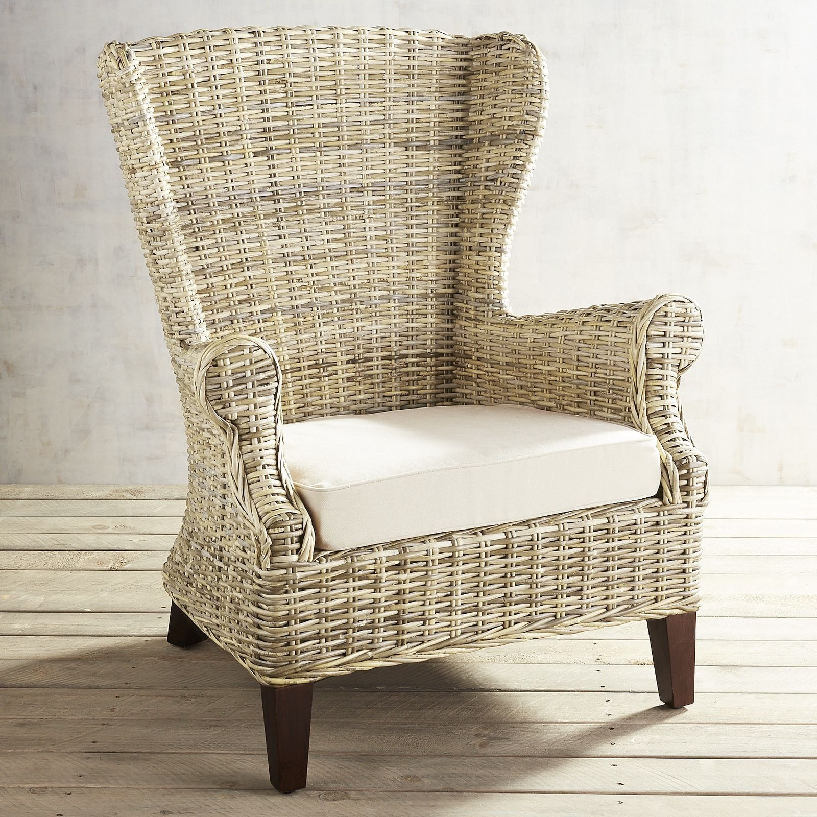 Marvelous Loxley Wicker Wingback Chair