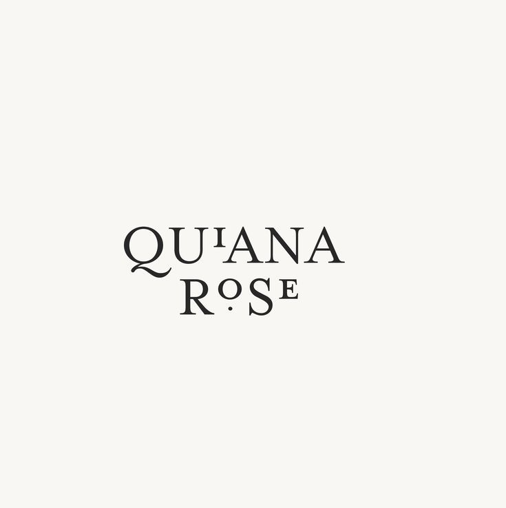 Quiana Rose Logo Design Typography Pinterest Logo Design