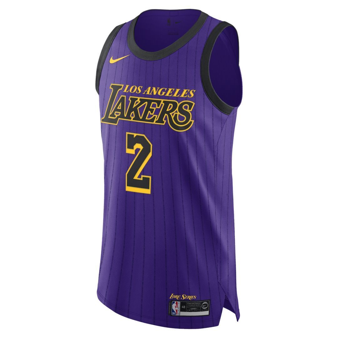 dcb5b73c4 Lonzo Ball City Edition Authentic (Los Angeles Lakers) Mens Nike NBA  Connected Jersey Size 58 (Field Purple)