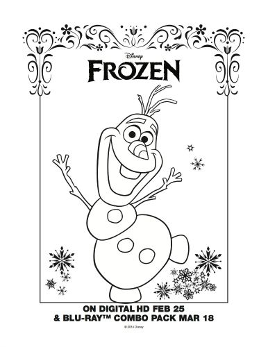 Frozen Printable Snowman Coloring Page | Printable Coloring Pages ...