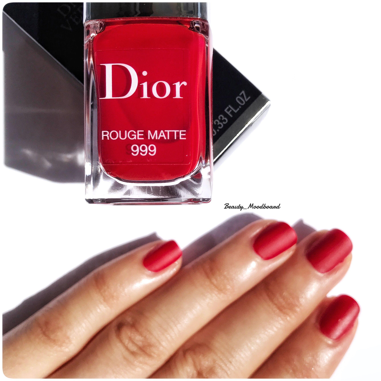 Dior Vernis Rouge Matte 999 #swatch | J\'aDior | Pinterest