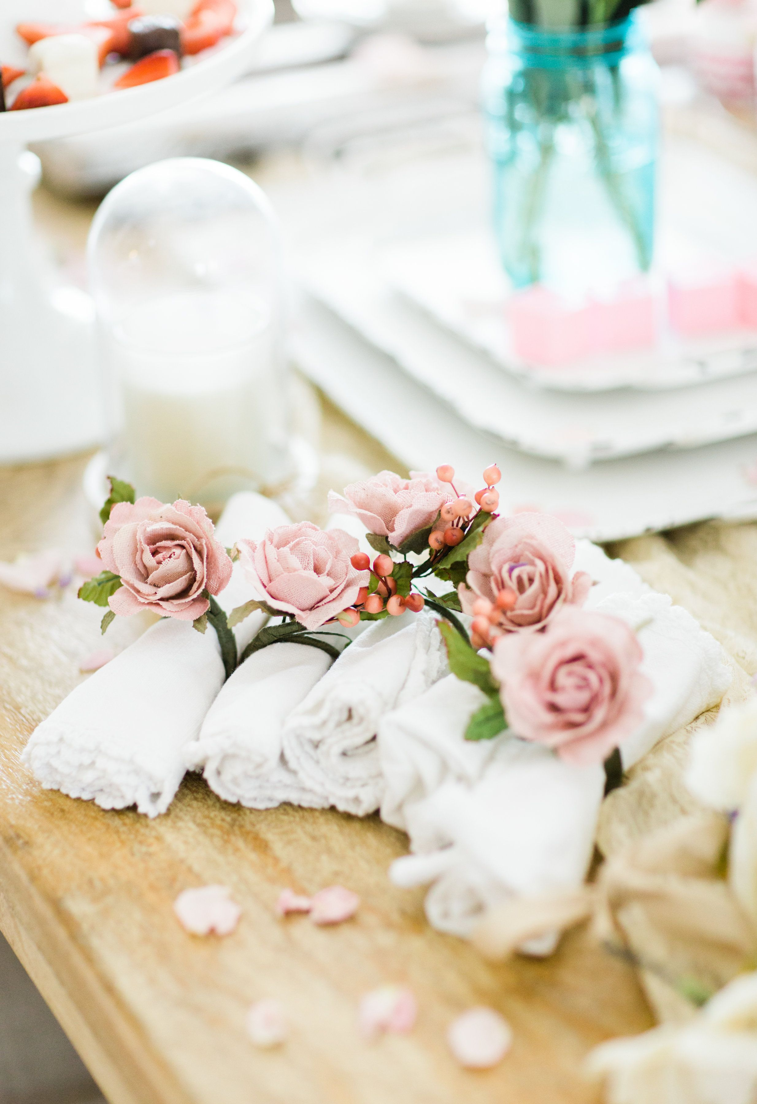 Lifestyle blogger Lexi of Glitter, Inc. shares how to throw a tea party  baby shower in 6 easy steps; plus a DIY diaper cake using cupcake liners!