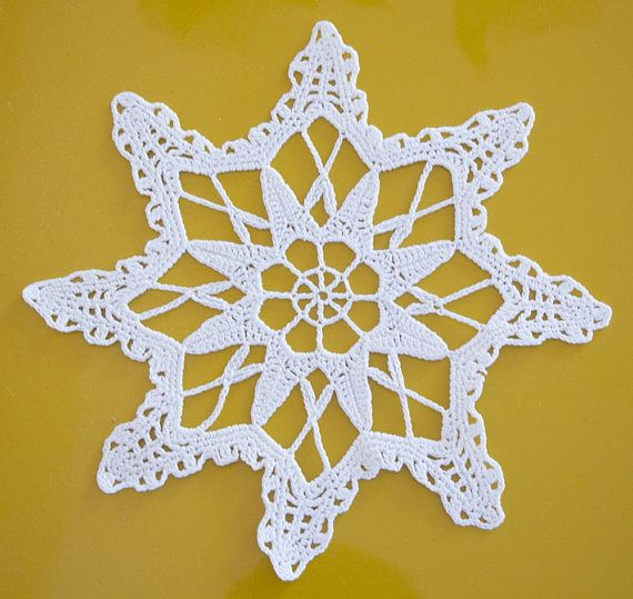 Hey, I found this really awesome Etsy listing at https://www.etsy.com/listing/565654154/white-crochet-doily-snowflake-coasters