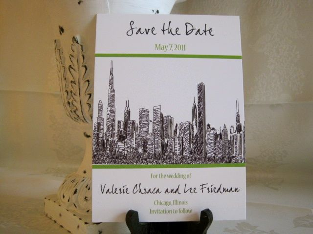 chicago skyline save the date save the date pinterest chicago
