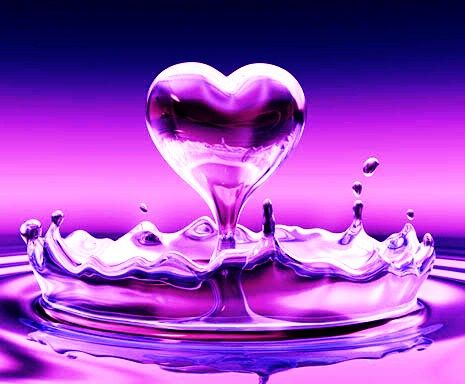 Image result for pink heart in water pic