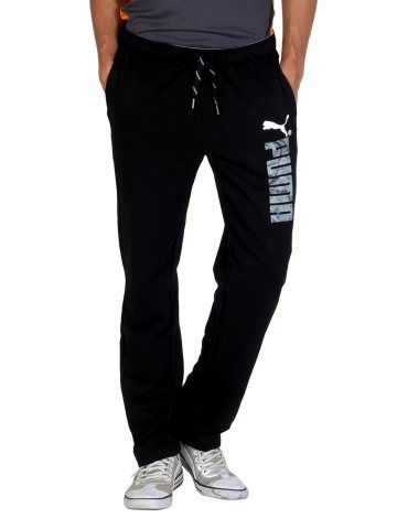 65ed8f29d9 Puma Men Black Track Pants | Myntra via @myntra | Puma | Puma pants ...