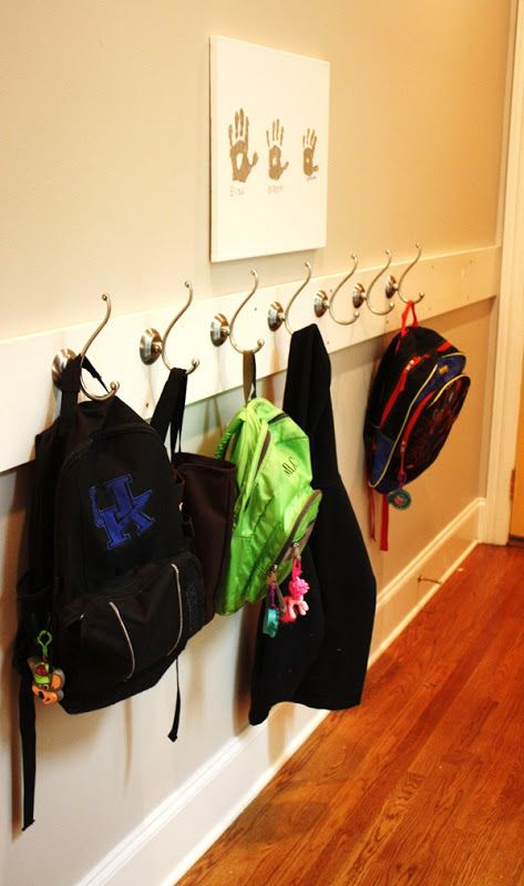 I M Loving This Diy Coat And Backpack Rack By The Front