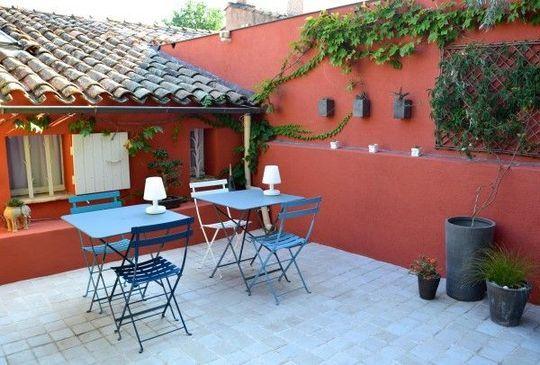 Terrasse Jardin Deco Mur Exterieur Jardin Peinture Mur