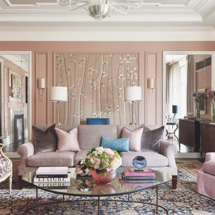 Symmetrical Balance Interior Design Accent Wall Nested: Tradition Balances Trend In A Manhattan Pied-A-Terre