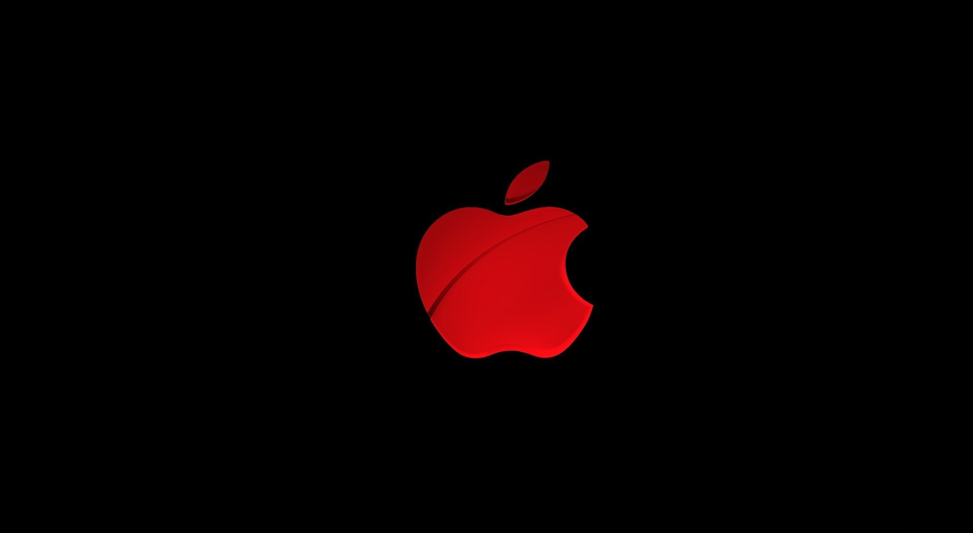 Apple Red Apple Logo Computers Mac Black 1080p Wallpaper Hdwallpaper Desktop Red Apple Apple Logo Wallpaper Apple Logo