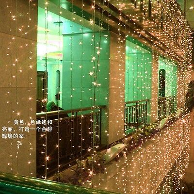 10*3M 1000PCS LED Curtain Lights String Lights Wedding Garden Decor