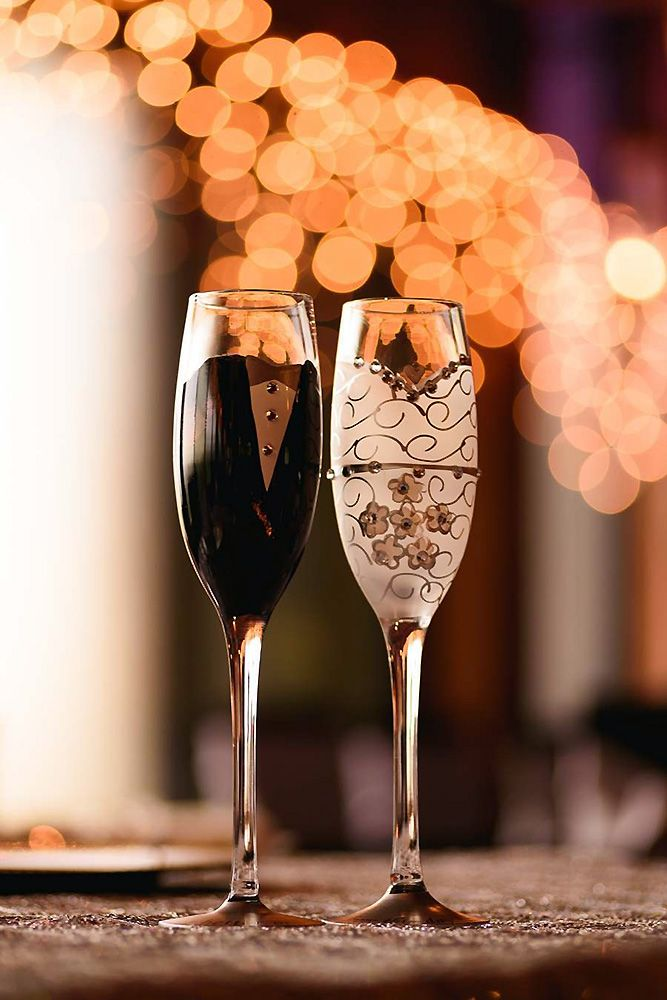 36 wedding glasses dcor ideas for your big day torrada e taas junglespirit Images