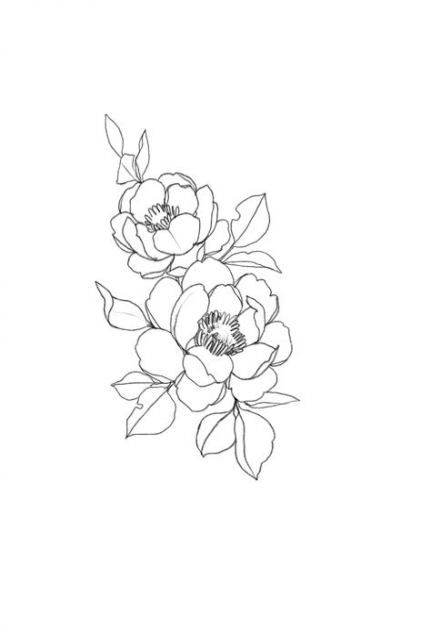 Tattoo Flower Line Shape 59+ Ideas For 2019