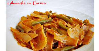 Scassati with chilli pasta with green beans