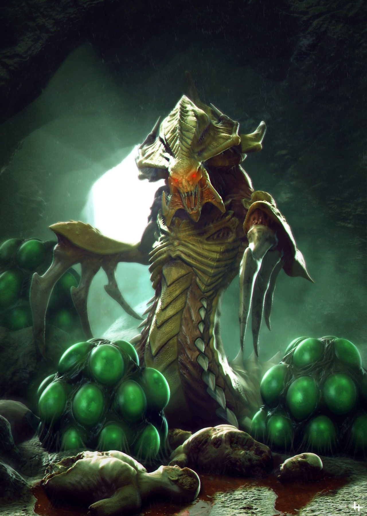 Pin By Michael Neff On Xeno Anthropology Starcraft Starcraft 2 Fantasy Dragon