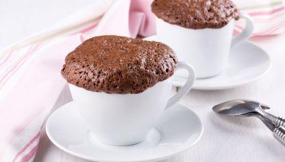Mug cake de chocolate sin levadura