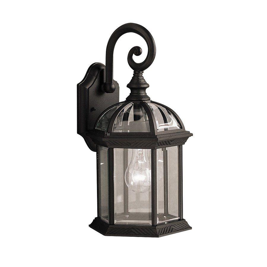 Kichler barrie in h black outdoor wall light bk outdoor