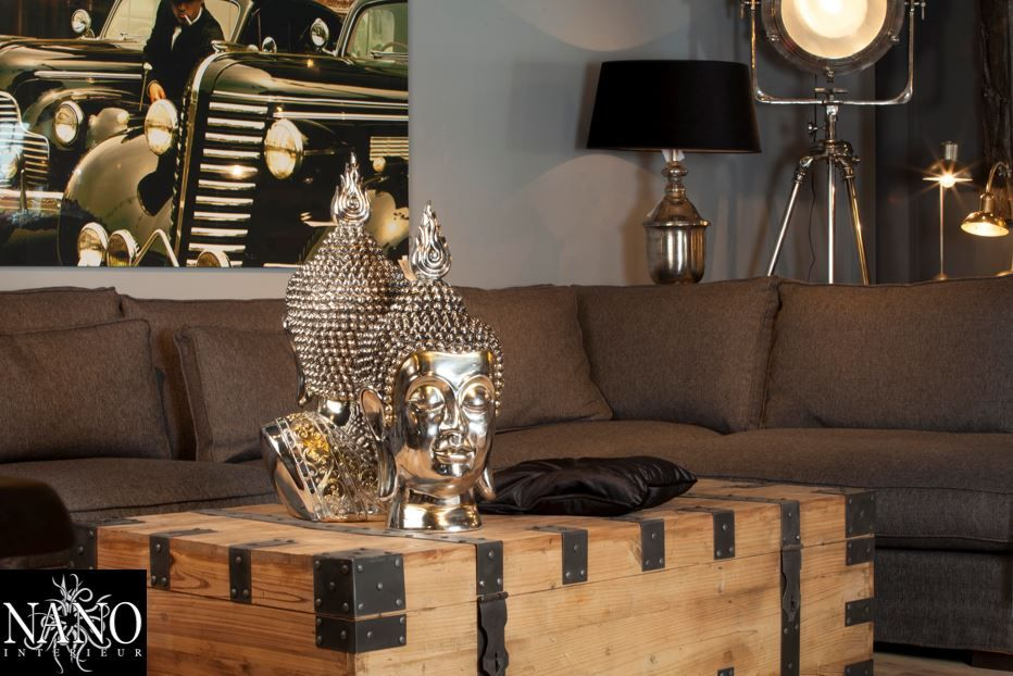 Stoere salontafel in een sfeervolle woonkamer   Nano Interieur ...
