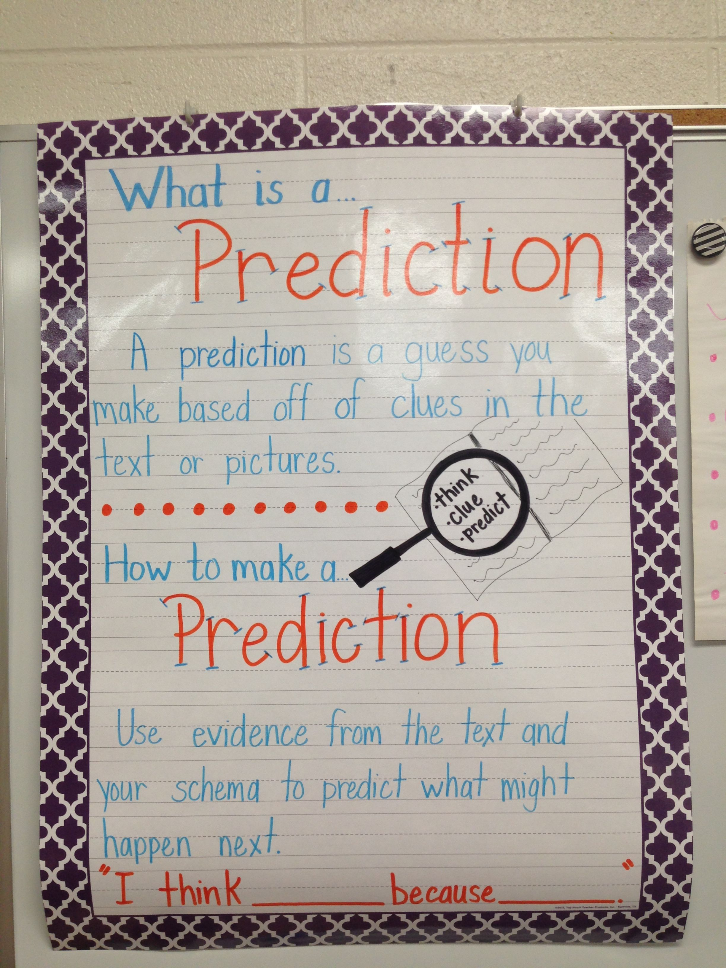 3rd Grade Prediction Anchor Chart How Do We Make