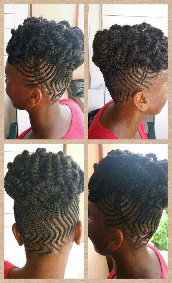 Minus The Zig Zag In The Back This Is Cute And Creative Natural Hair Updo Natural Hair Styles Beautiful Hair