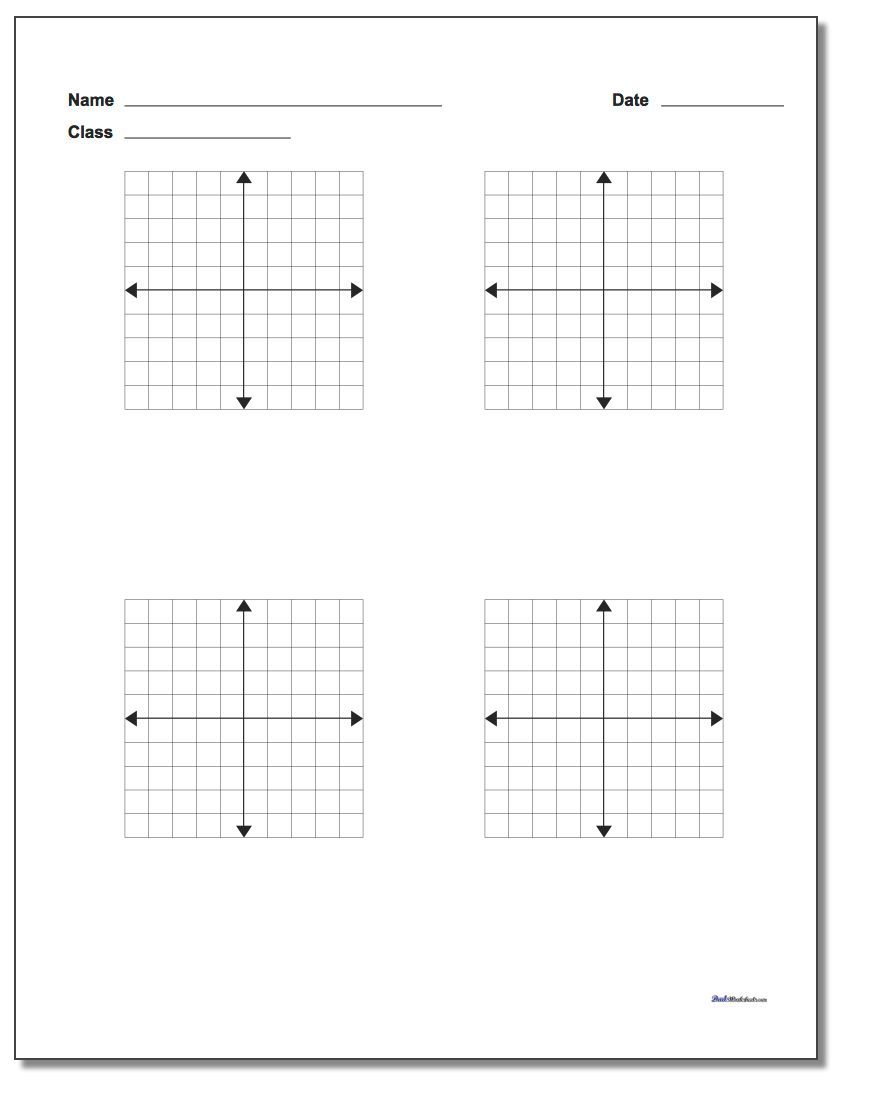 Coordinate Plane Blank Work Pages Check The Site Out For Many More
