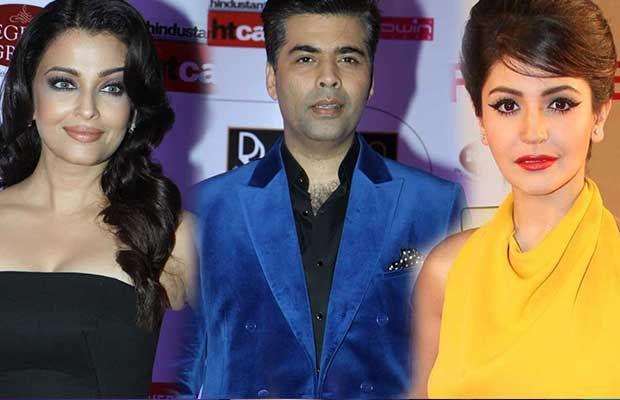 बॉलीवुड के जानेमाने फिल्मकार करण जौहर पूर्व मिस वल्र्ड ऐश्वर्या राय बच्चन और हॉट अभिनेत्री