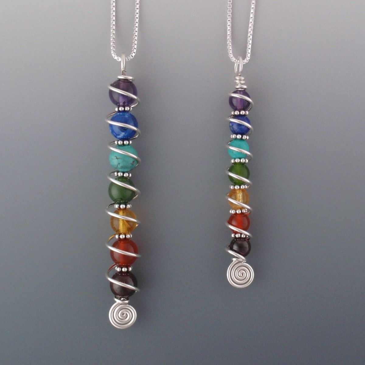 Photo of 7 Chakra Crystals Pendant – BJChristian Designs Jewelry – Beauty For Your Soul