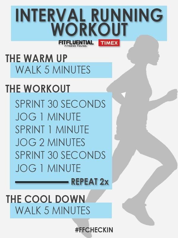 Interval running workout