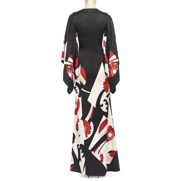 Alexander McQueen Abstract Floral-Print Kimono Gown (€6.690 ...