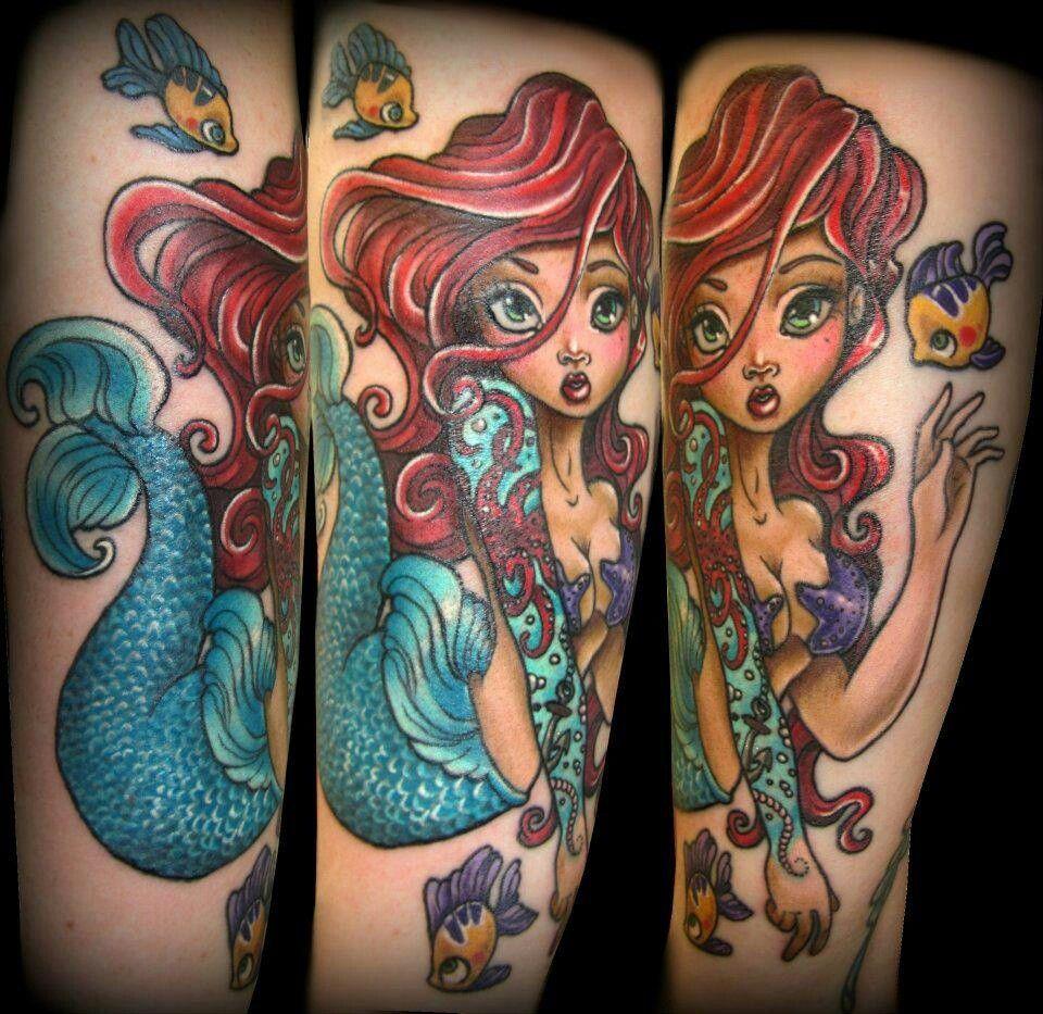 Little Mermaid Tattoo: The Little Mermaid Tattoos.