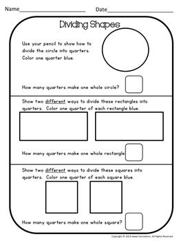2d Shapes Attributes Worksheets Distance Learning Math