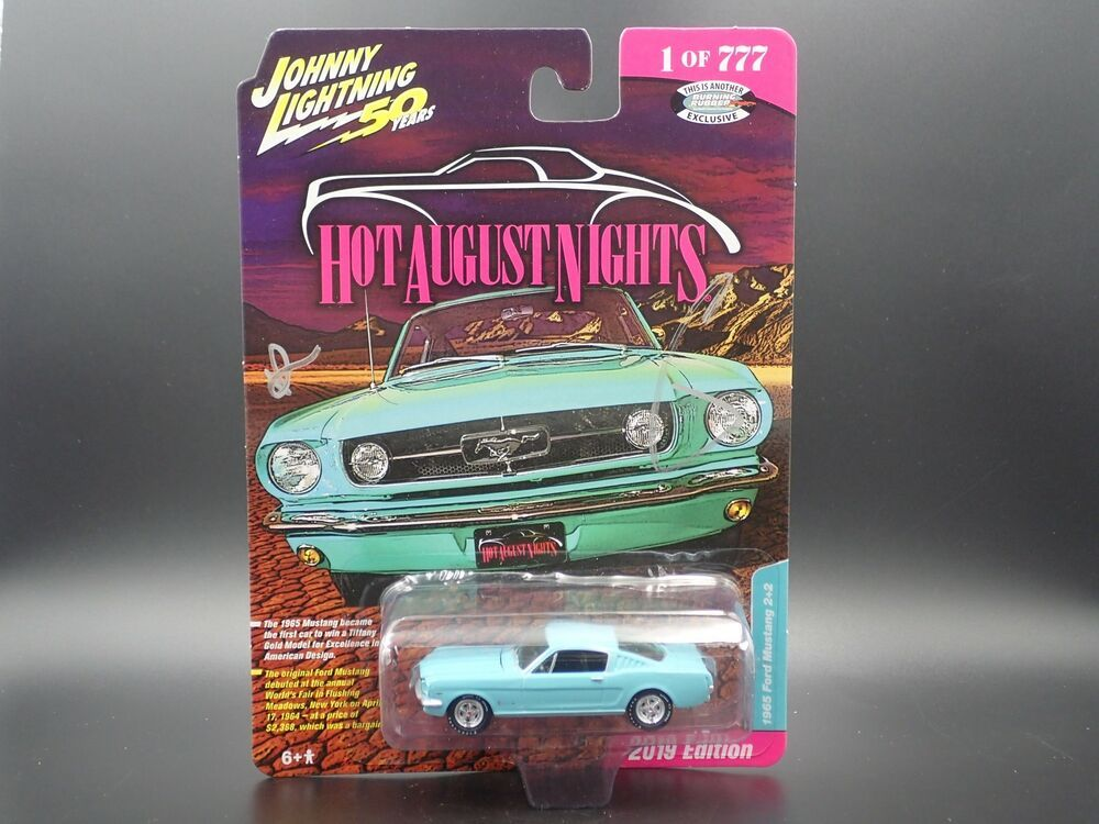 Autographed 1965 Ford 2 2 Mustang 2019 Hot August Nights Reno Exclusive 1 Of 777 Johnnylightning Ford Must Ford Mustang Fastback Mustang 1967 Chevy Chevelle