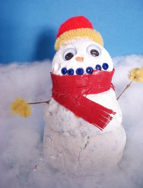 This Is A Snowman Sculpture Project That I Tried With A Grade 5