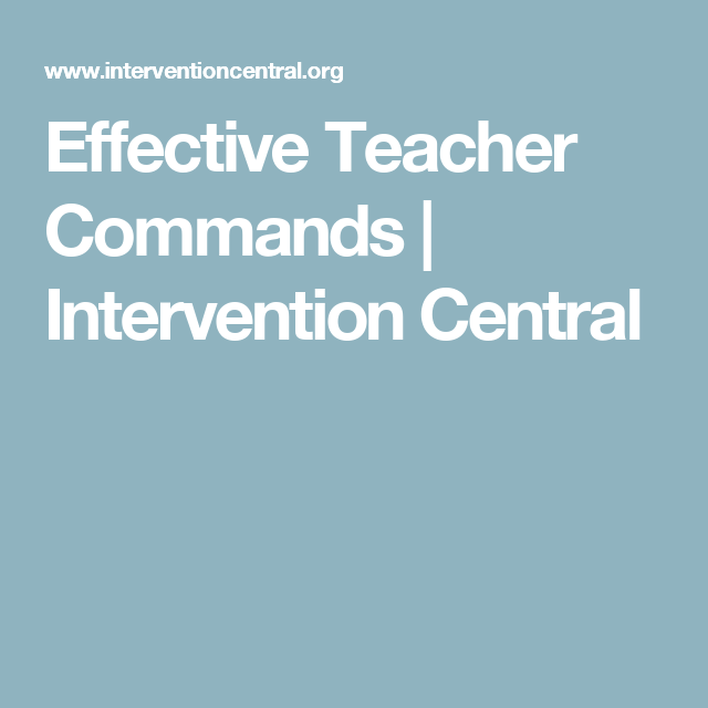 Effective Teacher Commands Intervention Central Teacher Expectations Behavior Interventions Teacher Learn how a country's central bank can intervene to affect the value of the country's currency in a learn the mechanism and purpose of a central bank sterilized intervention in a forex market. pinterest