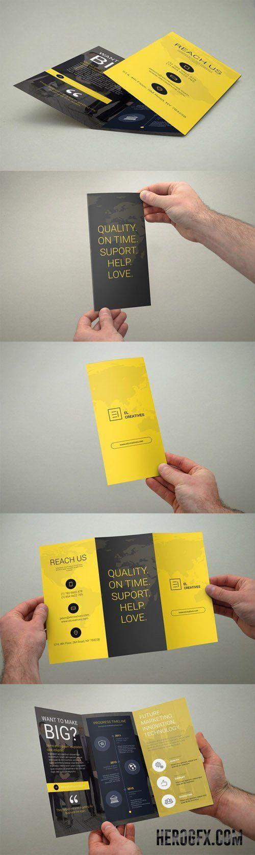 Creative Trifold Brochure: | Logotipos | Pinterest | Katalog