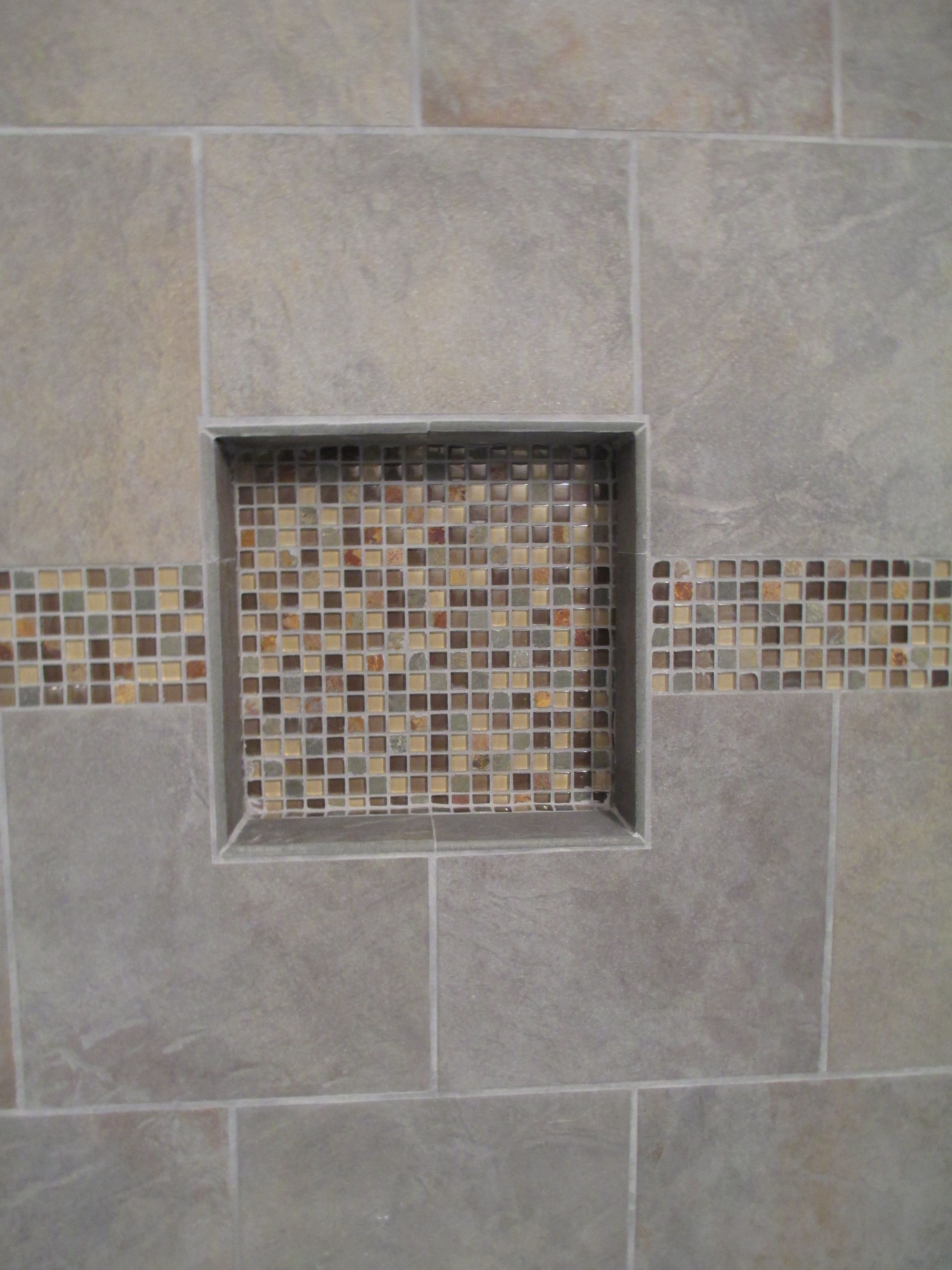 builtin shower niche for shampoo etc red river remodelers