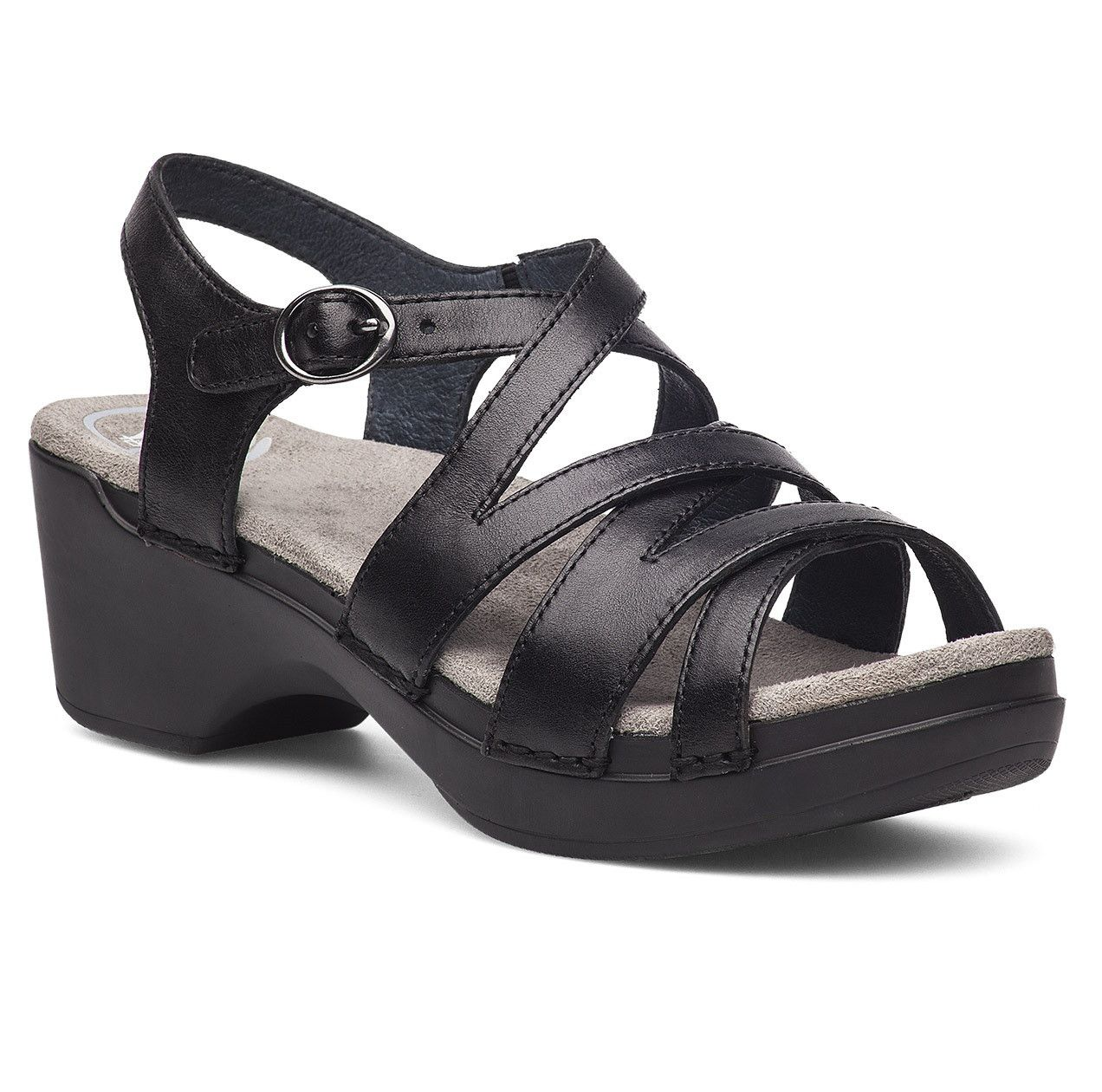 This great sandal gives you all the benefit of a Dansko  construction--extremely well-made, comfortable, and reliable--with a fun  and fashion-forward twi.