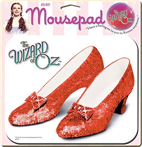Classic movies Dorothy Gale The wizard of Oz ruby slippers glittery statement size brooch Judy Garland